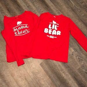 Other - Mama and Lil Bear kids long sleeve sleep shirts